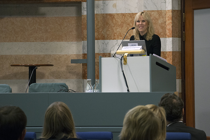 Catharina Espmark, State Secretary to Minister for Justice and Migration Morgan Johansson