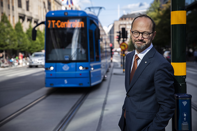 In the photo: Minister for Infrastructure Tomas Eneroth
