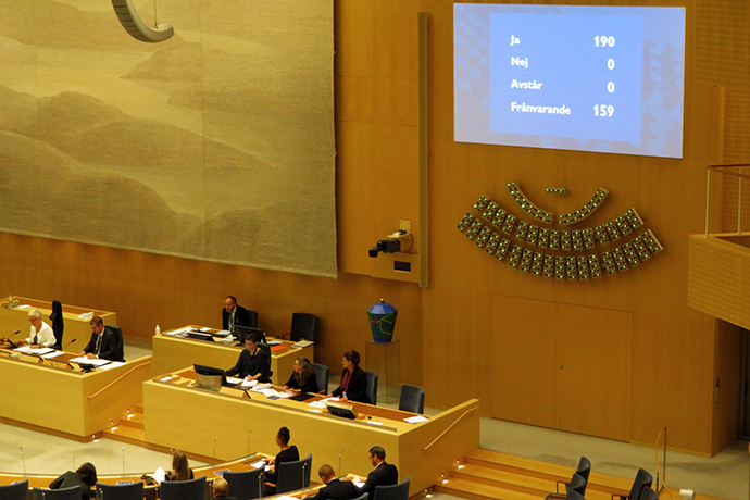 The Riksdag has voted in favour of the Government's proposal to introduce a new law on operational military support between Sweden and Finland.