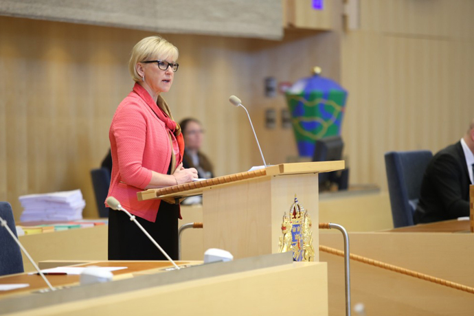 Margot Wallström presenterade Utrikesdeklarationen 2015