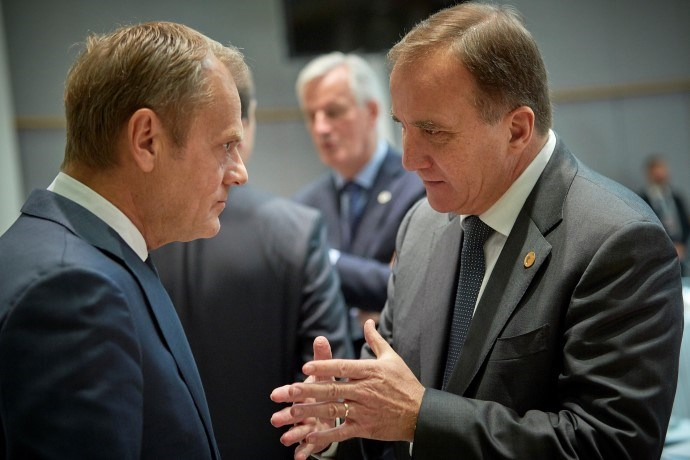 Donald Tusk and Stefan Lofven