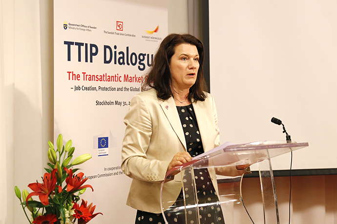 Minister for EU Affairs and Trade Ann Linde delivered the concluding address.