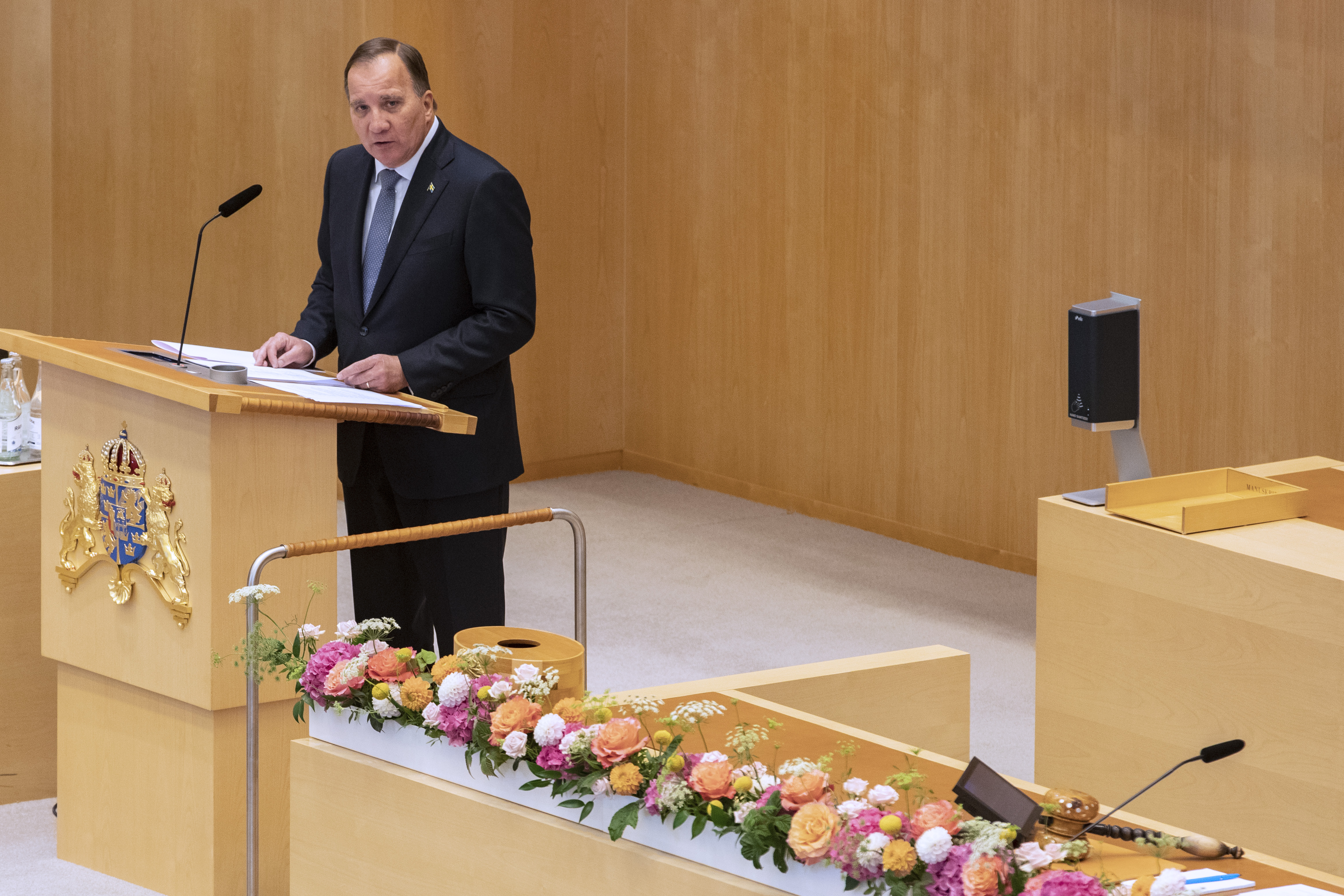 Stefan Löfven during the statement of government policy.