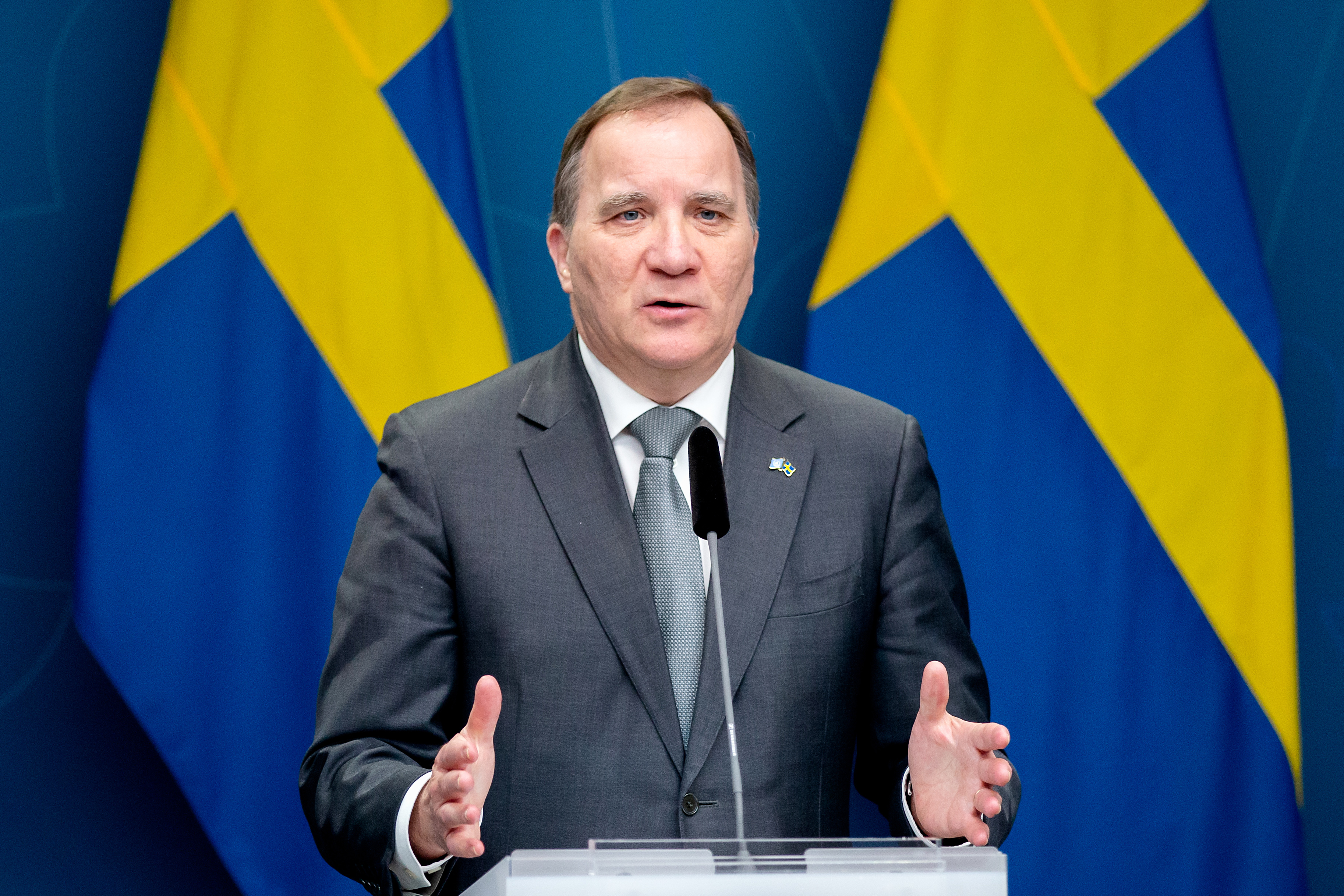 Prime Minister Stefan Löfven at press meeting after the Summit