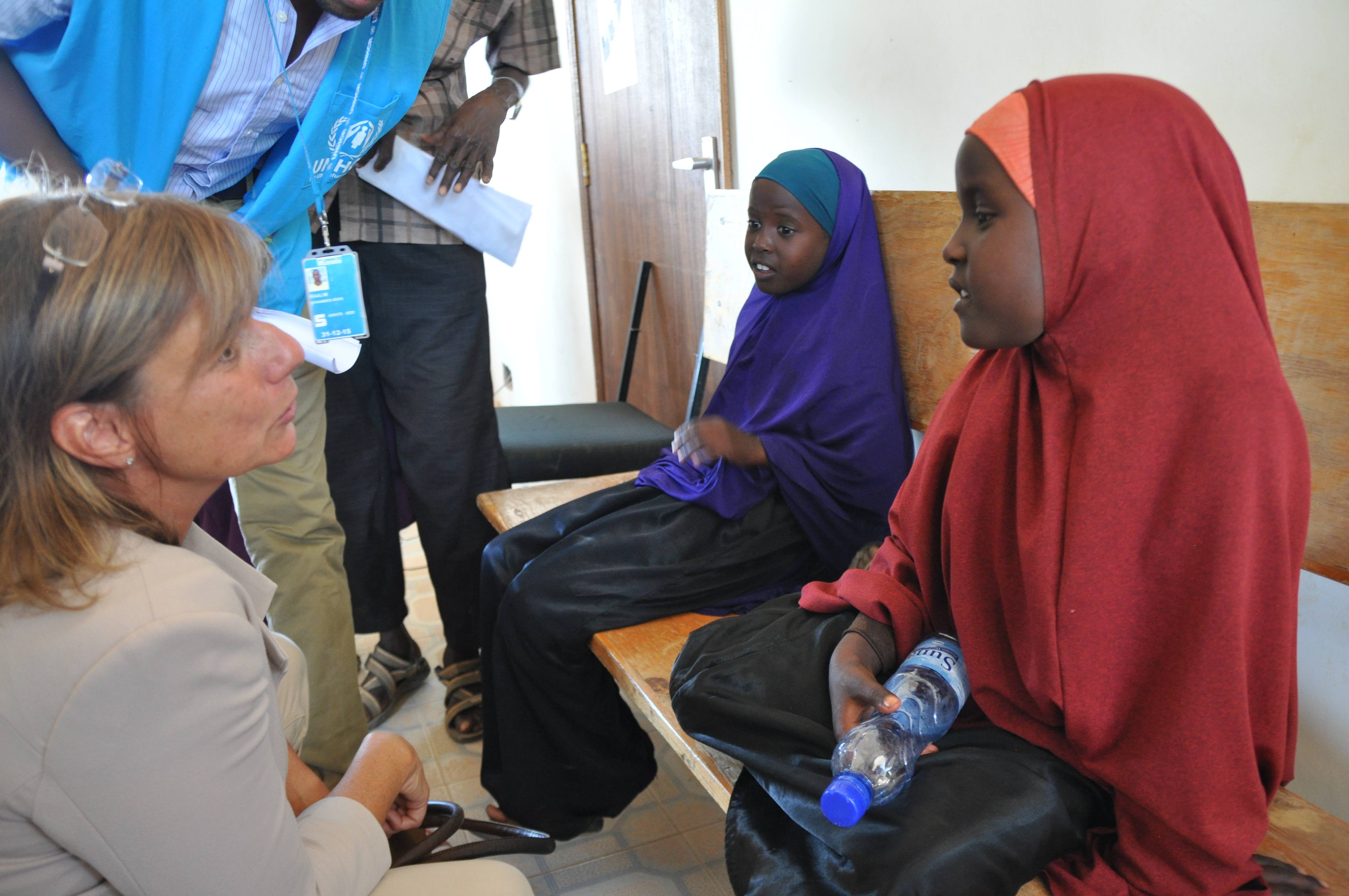 Isabella Lövin, Minister for International Development Cooperation and Climate, in the Dadaab refugee camp in Kenya.