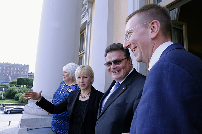 Minister for Foreign Affairs Margot Wallström today received the foreign ministers of Estonia, Latvia and Lithuania