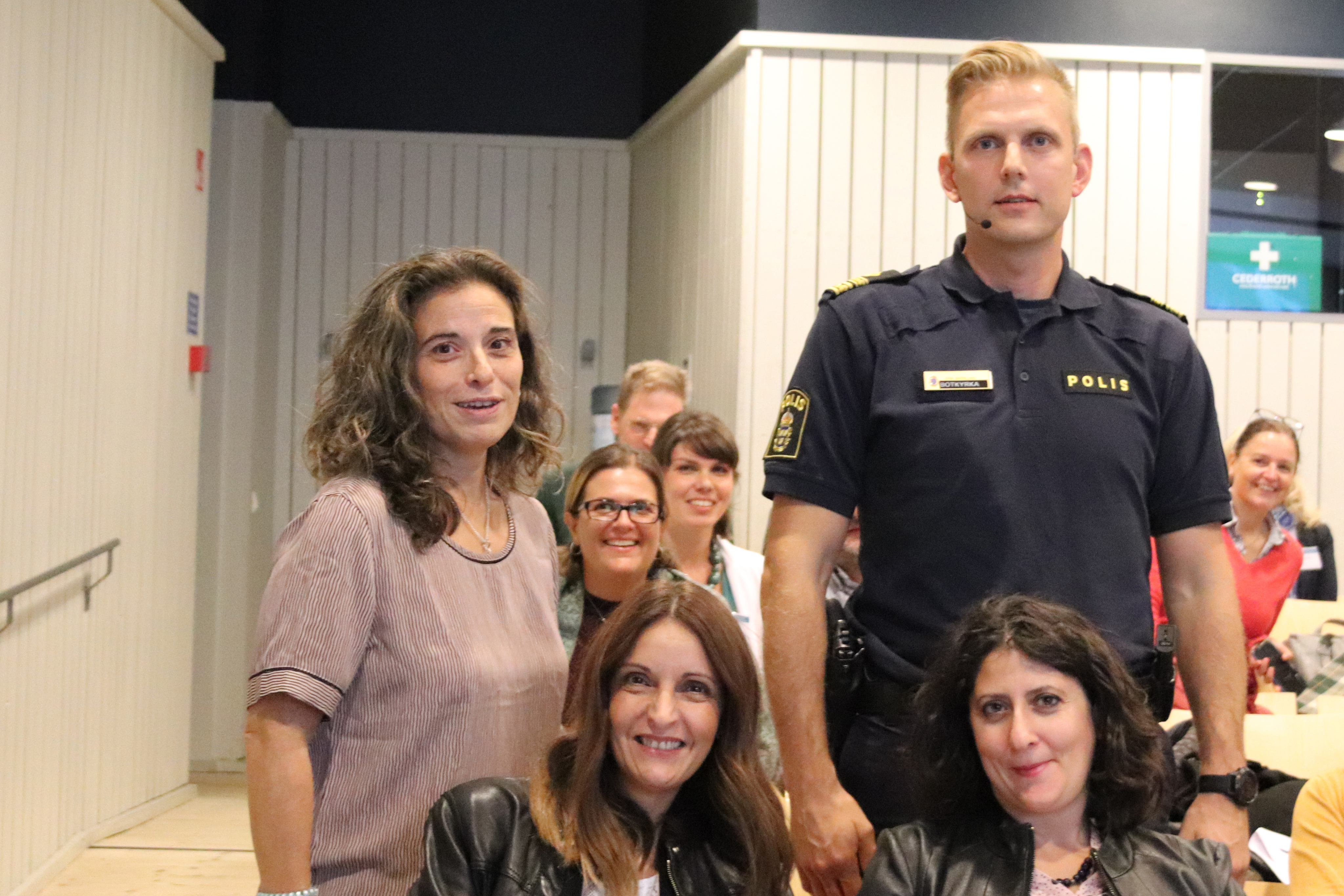 The European seminar participants made a study visit to Botkyrka, a municipality that has succeeded in establishing permanent violence prevention work in compulsory schools and upper secondary schools with social services and the police.