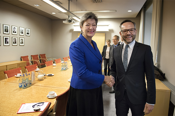 Swedish Minister for Employment, Ylva Johansson, and German Minister of State for Europe, Michael Roth.