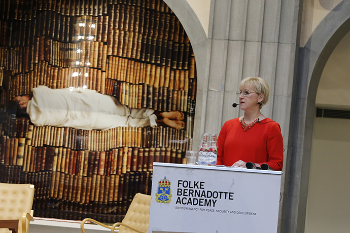 Minister for Foreign Affairs Margot Wallström at the seminar.