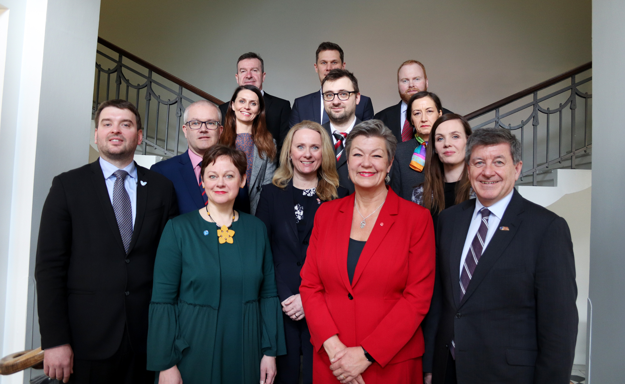 Some of the representatives at the Reykjavik meeting.