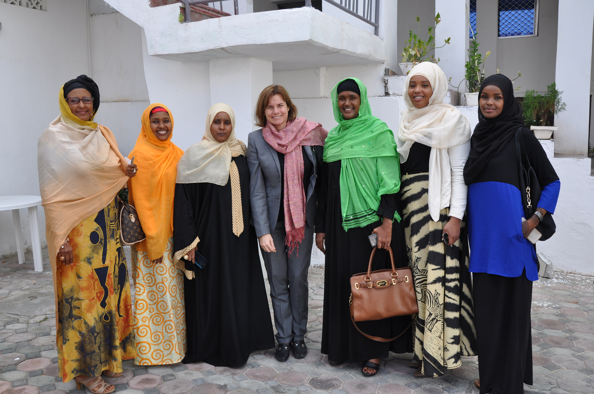 Isabella Lövin meeting women's rights activists in Somalia.