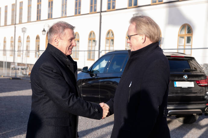 Minister for Defence Peter Hultqvist received Hungary's Minister of Defence Tibor Benkö at Karlberg Palace