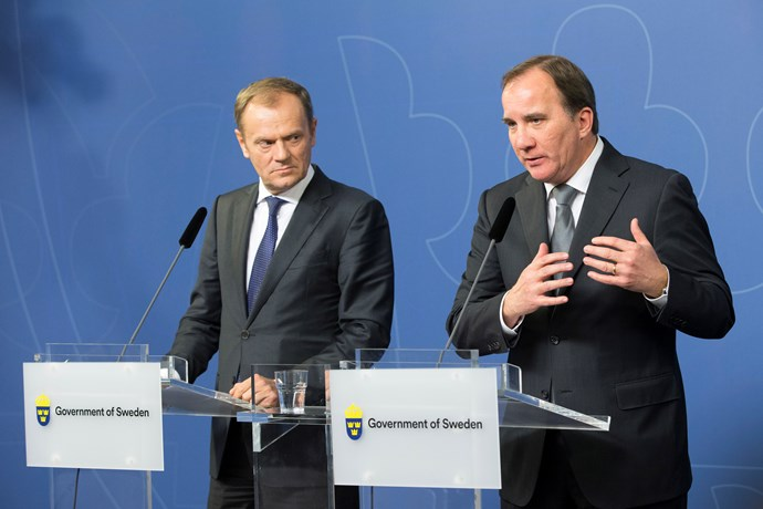 Stefan Löfven and Donald Tusk