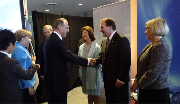 Photo of Stefan Löfven and Jan Eliasson