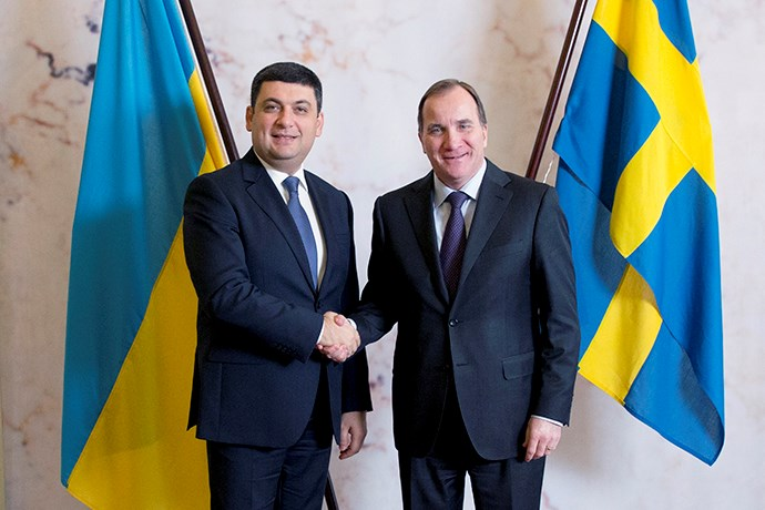 Photo of Volodymyr Groysman and Stefan Löfven