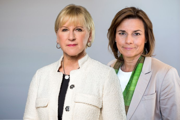 Margot Wallström and Isabella Lövin.