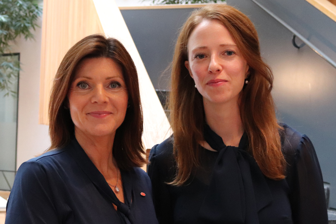 Eva Nordmark, the new Minister for Employment and head of the Ministry. Åsa Lindhagen, Minister for Gender Equality, with responsibility for anti-discrimination and anti-segregation.