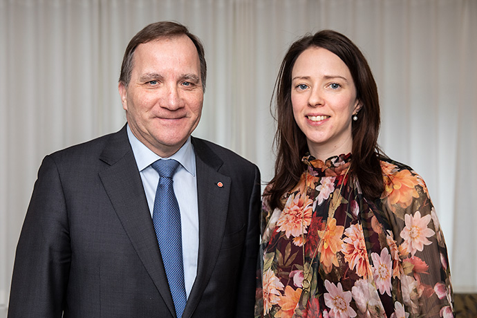 Prime Minister Stefan Löfven and Minister for Gender Equality Åsa Lindhagen.