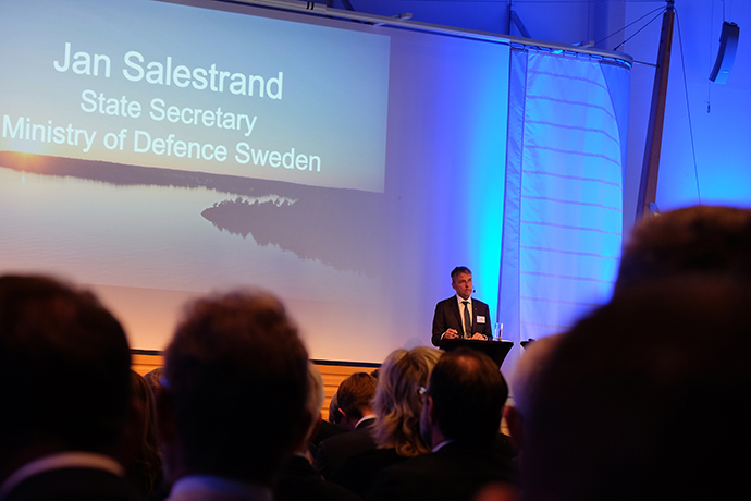 State Secretary to the Minister for Defence Jan Salestrand speaking at the Nordic Defence Industry Seminar