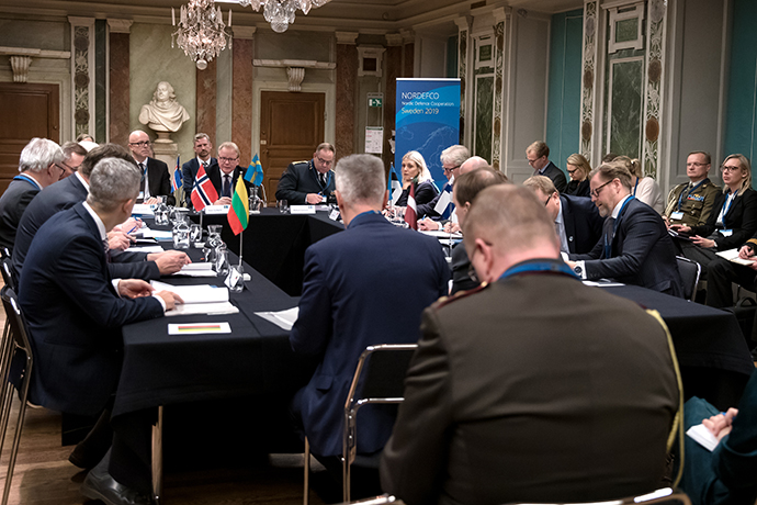 On 19 Novermber a Nordic-Baltic defence ministers meeting was held attended by the Nordic and Baltic ministers of defence.