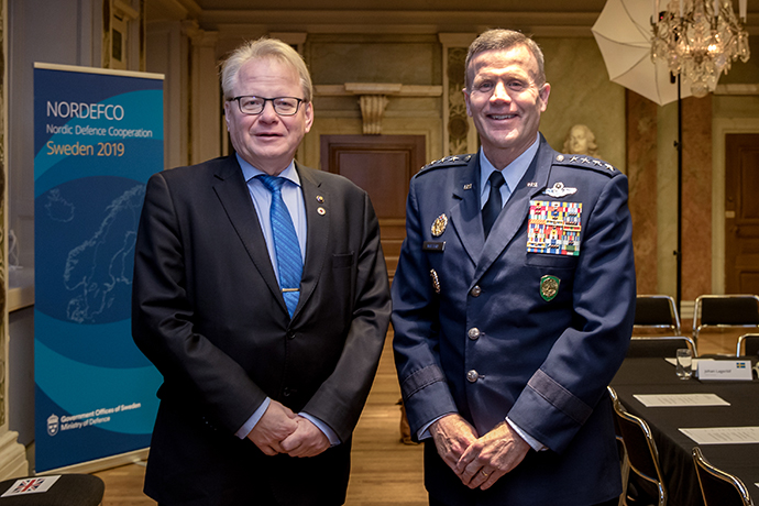 Commander, U.S. European Command, General Tod D. Wolters, attended the meeting hosted by Swedish Minister for Defense Peter Hultqvist.
