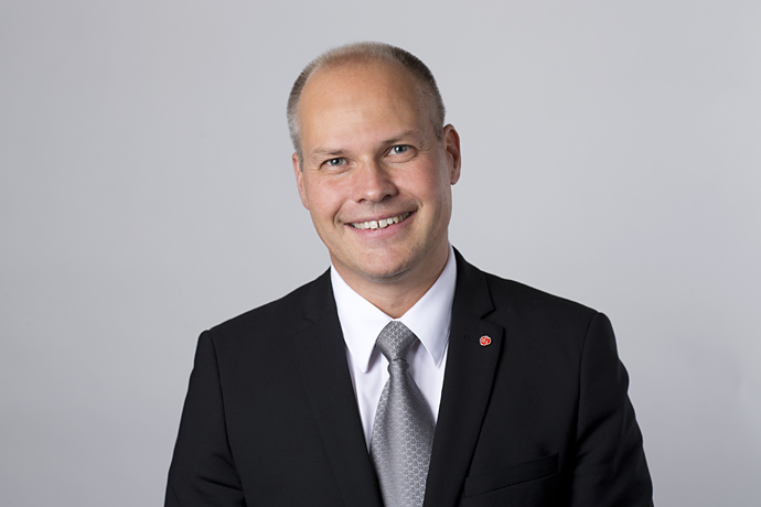 Portait picture Minister for Justice and Home Affairs Morgan Johansson