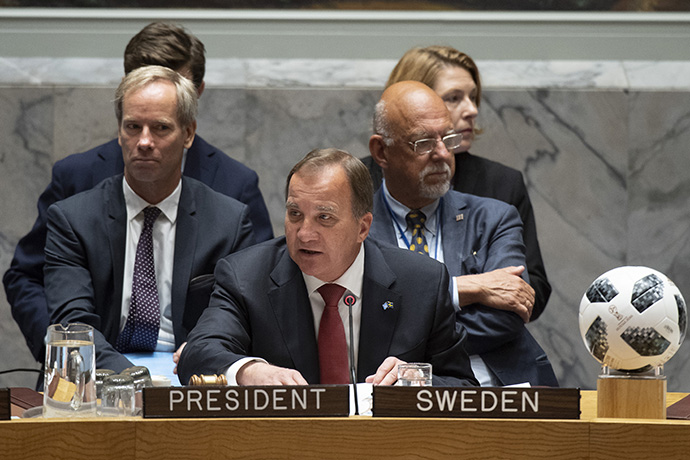Prime Minister Stefan Löfven at the UN Security Council.