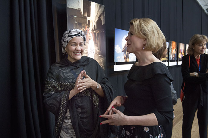 Amina J. Mohammed, Deputy Secretary-General of the United Nations meeting Åsa Regnér, Sweden's Minister for Children, the Elderly and Gender Equality