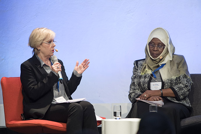 Lena Ag, Director-General, Swedish Gender Equality Agency talking in the panel on stage
