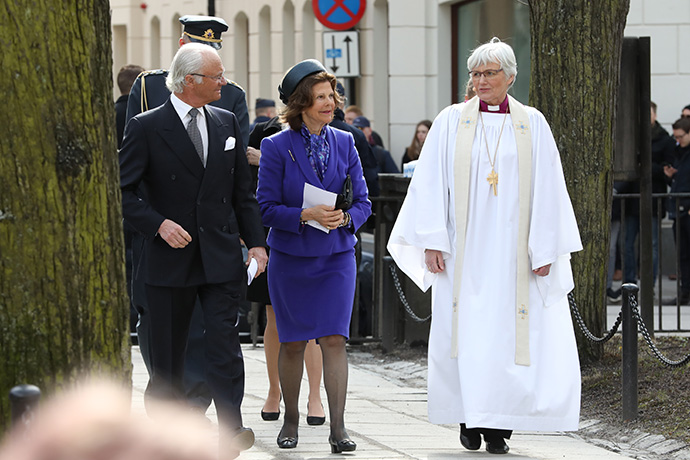 King Carl XVI Gustaf, Queen Silvia and Archbishop Antje Jackelén