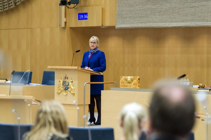 Minister for Foreign Affairs Margot Wallström presented the 2018 Statement of Foreign Policy in the Riksdag.