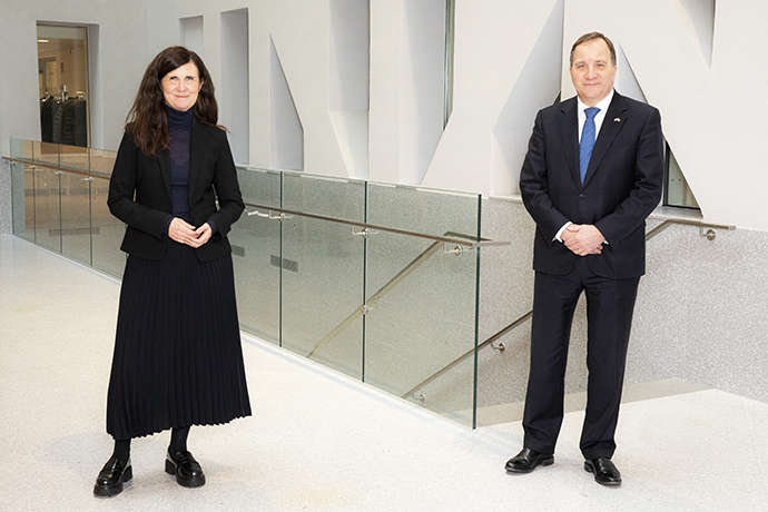 Minister for Gender Equality Märta Stenevi and Prime Minister Stefan Löfven.