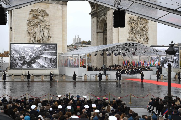 Memorial Ceremony, Arc de Triomphe.