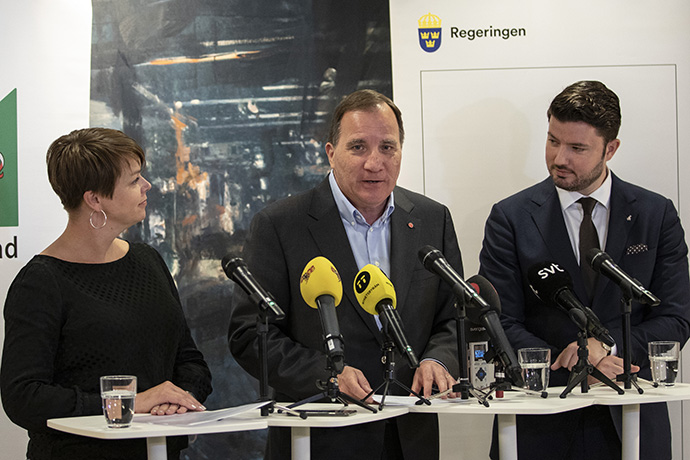 Prime Minister Stefan Löfven at the press conference